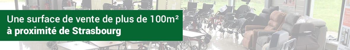 Une surface de vente de matériel médical de plus de 100m² à proximité de Strasbourg